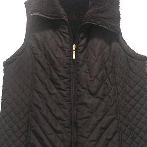 Quilted vest black